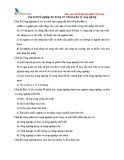 Câu hỏi trắc nghiệp Địa lý lớp 10: Chương Địa lý công nghiệp