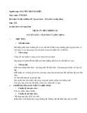 Giáo án Giải tích lớp 12 tiết 58