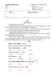 Kiểm tra cuối học kì 2 môn Toán - Trường TH Đồng Kho 1