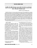 Nghiên cứu hiện trạng và lựa chọn giải pháp xả lũ hợp lý khi xảy ra lũ vượt thiết kế đảm bảo an toàn cho hồ chứa nước núi một, tỉnh Bình Định