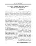 Giải pháp cấp nước nông thôn tỉnh Quảng Ngãi trong điều kiện biến đổi khí hậu