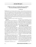 Nghiên cứu đề xuất giải pháp tôn tạo, mở rộng bãi đảo nổi thuộc quần đảo Trường Sa