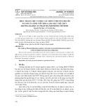 Thực trạng việc tự học các môn lí thuyết chuyên ngành của sinh viên khoa giáo dục thể chất trường Đại học Sư phạm Thành phố Hồ Chí Minh