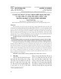 Vấn đề ngữ pháp văn bản trong biên dịch Anh - Việt và Việt - Anh của sinh viên khoa tiếng anh trường Đại học Sư phạm Tp Hồ Chí Minh