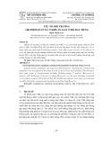 Yếu tố môi trường chi phối quần xã vi khuẩn lam ở hồ Dầu Tiếng