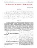 Tìm hiểu về tính phi tuyến của âm tiết Tiếng Việt