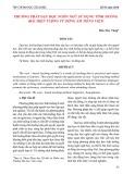 Phương pháp dạy học ngôn ngữ sử dụng tình huống (Bài hiện tượng từ đồng âm Tiếng Việt)