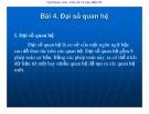 Bài giảng Cơ sở dữ liệu: Bài 4 - ThS. Vũ Văn Định