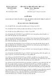 Quyết định số 02/2018/QĐ-UBND tỉnh Bình Định