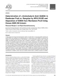 Determination of γ aminobutyric acid (gaba) in rambutan fruit cv. rongrian by hplc elsd and separation of gaba from rambutan fruit using dowex 50w x8 column