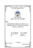 Chuyên đề thực tập tốt nghiệp: Một số giải pháp nhằm hoàn thiện công tác trả lương tại Công ty TNHH Du lịch Quốc tế Fansipan Sao Bạch Minh