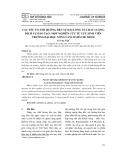 Các yếu tố ảnh hưởng đến sự hài lòng về chất lượng dịch vụ đào tạo: một nghiên cứu từ cựu sinh viên trường Đại học Nông Lâm tp Hồ Chí Minh