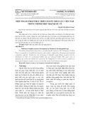Một số giải pháp phát triển nguồn nhân lực Việt Nam trong thời kì hội nhập quốc tế