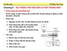 Bài giảng môn học Cơ học máy: Chương 9 - TS. Phan Tấn Hùng