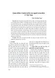 Quan điểm về phát triển con người toàn diện ở Việt Nam