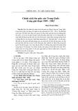 Chính sách tôn giáo của Trung Quốc trong giai đoạn 1949 - 1982