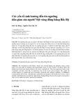 Các yếu tố ảnh hưởng đến tín ngưỡng dân gian của người Việt vùng đồng bằng Bắc Bộ