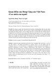 Quan điểm của Đảng Cộng sản Việt Nam về an ninh con người