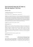 Quá trình hình thành thể chế chính trị dân chủ cộng hòa ở Việt Nam