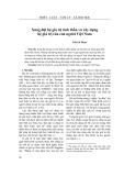 Xung đột hệ giá trị tinh thần và xây dựng hệ giá trị của con người Việt Nam