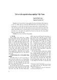 Tái cơ cấu ngành nông nghiệp Việt Nam