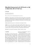 Hiệp định thương mại tự do thế hệ mới: cơ hội và thách thức đối với Việt Nam