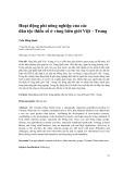 Hoạt động phi nông nghiệp của các dân tộc thiểu số ở vùng biên giới Việt - Trung
