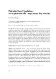 Phật giáo Nam Tông Khmer với sự phát triển bền vững khu vực Tây Nam Bộ