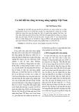 Cơ chế đối tác công tư nông nghiệp Việt Nam