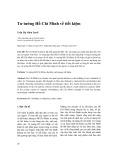 Tư tưởng Hồ Chí Minh về tiết kiệm