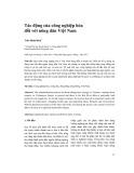 Tác động của công nghiệp hóa đối với nông dân Việt Nam