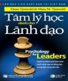 tâm lý học dành cho lãnh đạo: phần 2