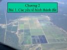 Bài giảng Khoa học đất - Chương 2: Các yếu tố hình thành đất