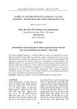 Nghiên cứu hấp phụ Metylen xanh bằng vật liệu Graphene – bùn đỏ hoạt hóa trong môi trường axit