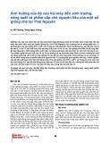 Ảnh hưởng của độ cao hái máy đến sinh trưởng, năng suất và phẩm chất chè nguyên liệu của một số giống chè Thái Nguyên