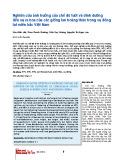 Nghiên cứu ảnh hưởng đến chế độ tưới và dinh dưỡng đến sự ra hoa của các giống lan Hoàng Thảo trong vụ đông tại miền Bắc Việt Nam