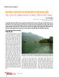 Xây dựng và phát triển các mô hình kinh tế xanh lưu vực sông: yêu cầu về chính sách và thực tiễn ở Việt Nam