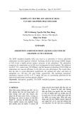 Nghiên cứu hấp phụ ion Amoni sử dụng vật liệu Graphite hoạt hóa KOH