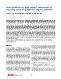 Đánh giá khả năng thích hợp đất đai cho một số cây trồng chính vùng miền núi Tây Bắc Việt Nam