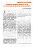 Giải pháp khai thác nguồn tin luận văn Thạc sỹ tại thư viện trường Đại học Sư phạm - Đại học Thái Nguyên