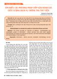 Tìm hiểu các phương pháp tiếp cận đánh giá chất lượng dịch vụ thông tin thư viện
