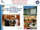 Bài giảng Quản trị tác nghiệp doanh nghiệp khách sạn (Hotel Operations Management): Chương 4 - ĐH Thương Mại