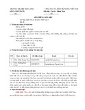 Đề cương môn học Địa lý tự nhiên Việt Nam 1