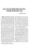 Hoa văn đồ gốm Phùng Nguyên nguồn sử liệu độc đáo