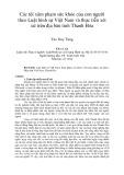 Tóm tắt Luận văn Thạc sĩ: Các tội xâm phạm sức khỏe của con người theo Luật hình sự Việt Nam và thực tiễn xét xử trên địa bàn tỉnh Thanh Hóa