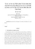 Tóm tắt Luận văn Thạc sĩ Luật học: Vị trí, vai trò của Thẩm phán Tòa án nhân dân cấp tỉnh trong hoạt động xét xử các vụ án hình sự