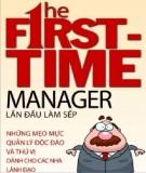 Ebook Lần đầu làm sếp: Phần 1 - NXB Lao động xã hội