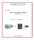Bài giảng Truyền động điện DC và AC - ThS. Trần Công Binh