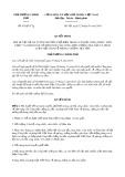 Quyết định số 65/QĐ-TTg năm 2018