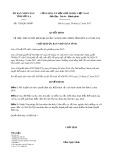 Quyết định số 3320/QĐ-UBND tỉnh Sơn La